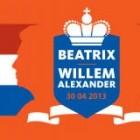 Troonwisselingsvlag voor Beatrix en Willem-Alexander